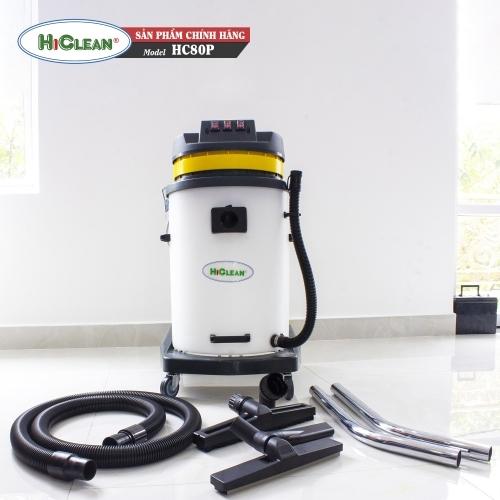 Máy hút bụi công nghiệp HiClean HC80P - thùng nhựa