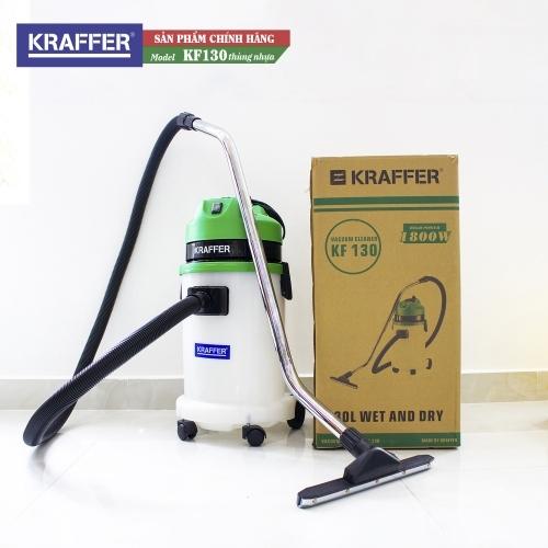 Máy hút bụi công nghiệp Kraffer KF130 (thùng nhựa)
