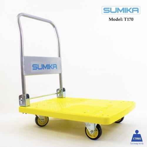 Xe đẩy hàng sàn nhựa SUMIKA T170 (tải trọng 170kg)