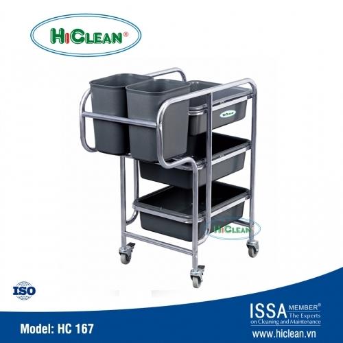 Xe đẩy thu gom thức ăn HiClean HC167