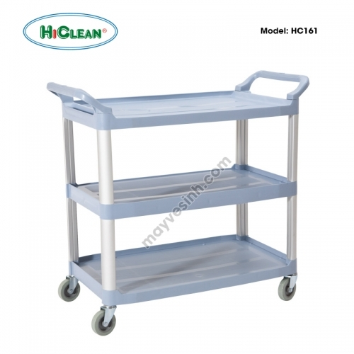 Xe đẩy phục vụ bàn HiClean HC161 (không xô)