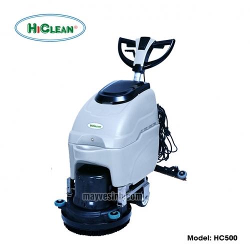 Máy lau sàn nhà xưởng HiClean HC500 (màu xám, dùng điện)